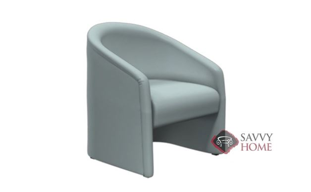 Classic Barrel Leather Accent Chair by Lazar Industries