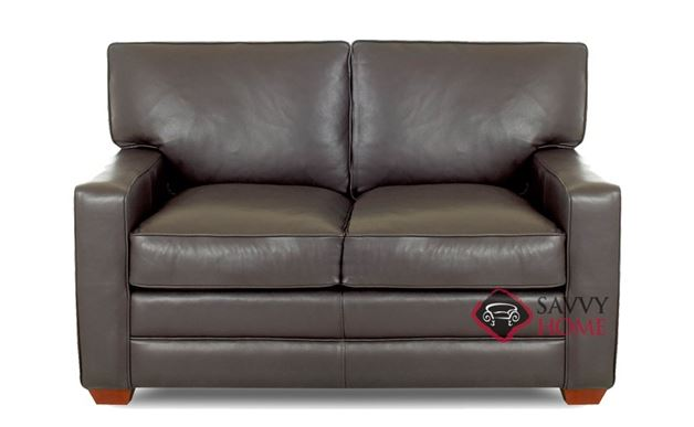 Waltham Leather Loveseat by Savvy