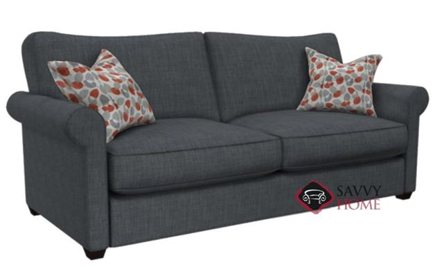 The 225 Queen Sofa Bed by Stanton shown in Bennett Charcoal