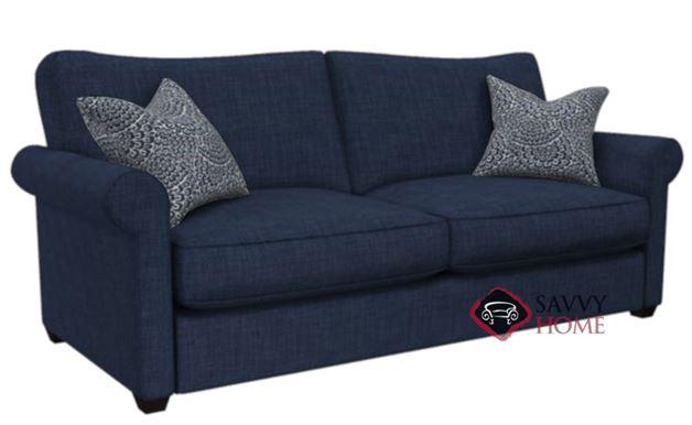 The 225 Queen Sleeper Sofa by Stanton shown in Bennett Indigo