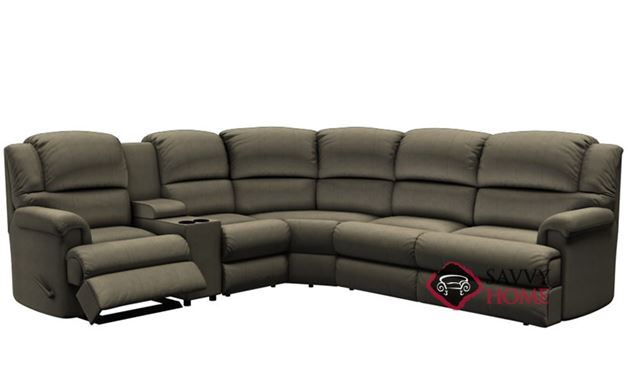 Harlow Large Reclining True Sectional Sofa with Console by Palliser--Power Upgrade Available