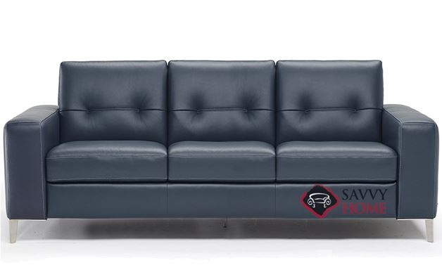 Po (B883-266) Queen Leather Sleeper Sofa by Natuzzi Editions with Greenplus Foam Mattress