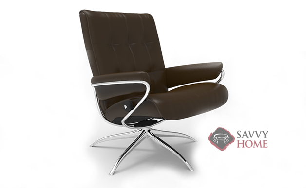 London Low-Back Reclining Chair and Ottoman by Stressless