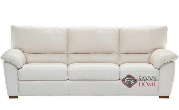Trento (B632-064) Leather 3-Seat Sofa by Natuzzi Editions in Le Mans White