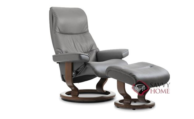 View Medium Leather Recliner and Ottoman by Stressless