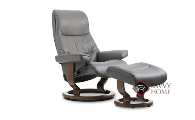 View Small Leather Recliner and Ottoman by Stressless