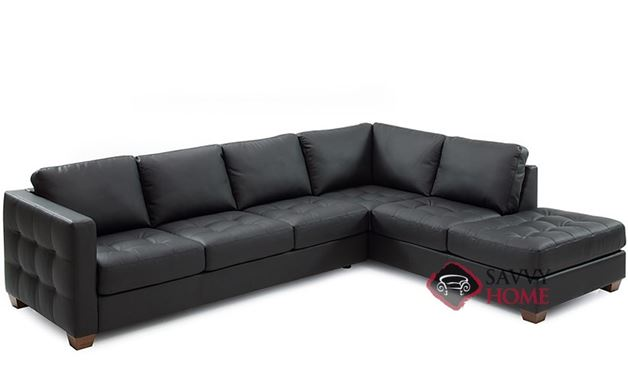 Barrett Leather Large Chaise Sectional Sofa by Palliser