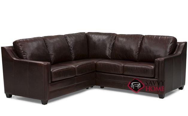 Corissa Leather Compact True Sectional Sofa by Palliser