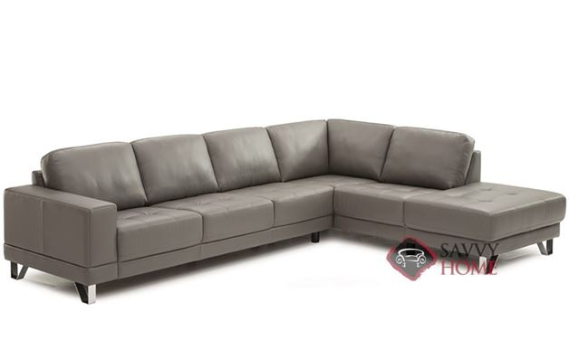 Seattle Top-Grain Leather Chaise Sectional Sofa by Palliser