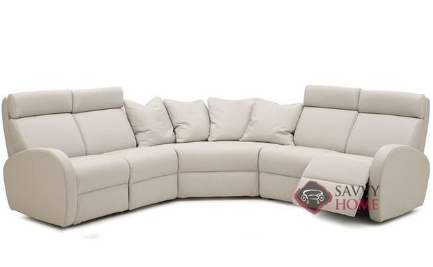 Jasper II My Comfort Large Reclining True Sectional Leather Sofa by Palliser--Power Upgrade Available