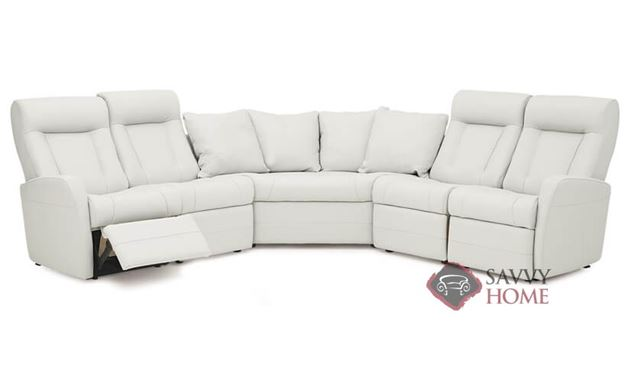 Banf II My Comfort Large Reclining True Sectional Leather Sofa by Palliser