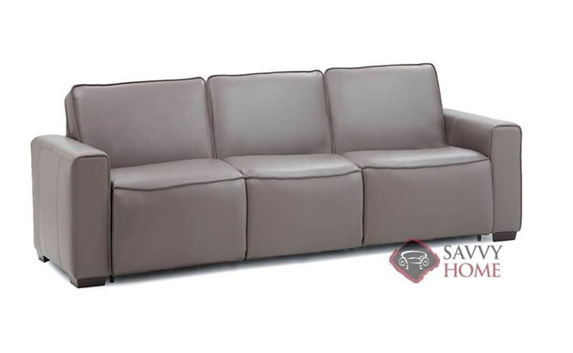 Lullaby My Comfort 3-Cushion Leather Queen Sleeper Sofa by Palliser in Venice Coal