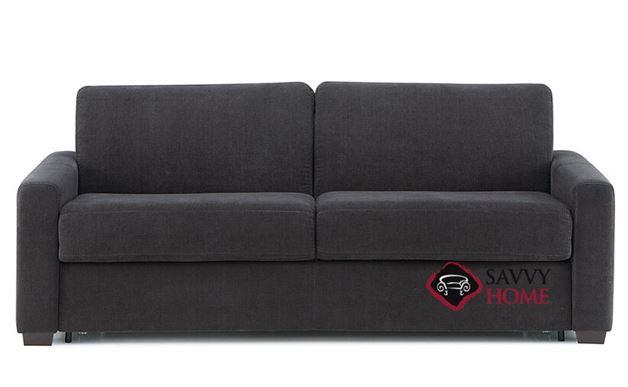 Roommate My Comfort 2-Cushion Queen Sleeper Sofa in Heavenly Caviar