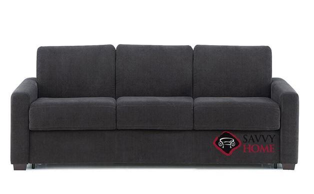 Roommate My Comfort 3-Cushion Queen Sleeper Sofa in Heavenly Caviar