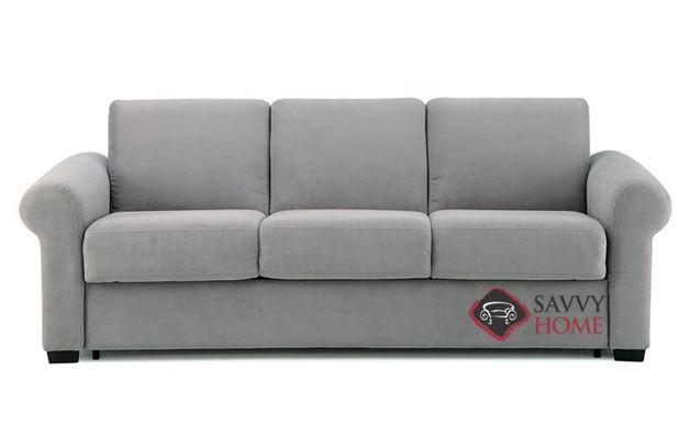 Sleepover My Comfort 3-Cushion Queen Sleeper Sofa by Palliser in Echosuede Charcoal