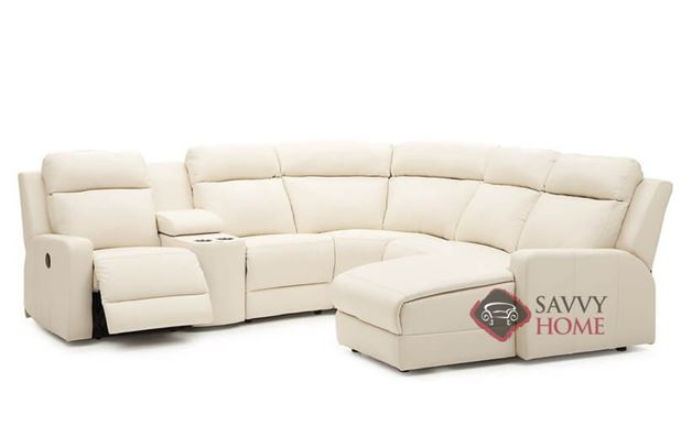 Forest Hill Large Reclining True Sectional Leather Sofa by Palliser--Power Upgrade Available