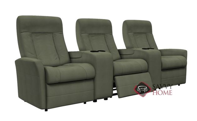 Banff II My Comfort Dual Reclining Sofa with 2 Console by Palliser--Power Upgrade Available