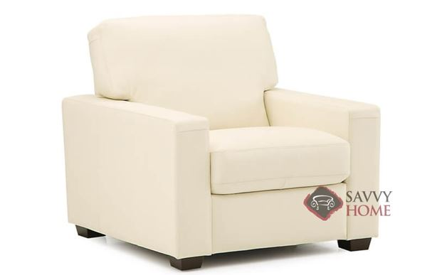 Westend Leather Arm Chair by Palliser in Broadway Alabaster