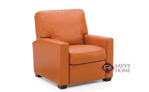 Westend Leather Reclining Chair by Palliser in Dazzle Cayenne