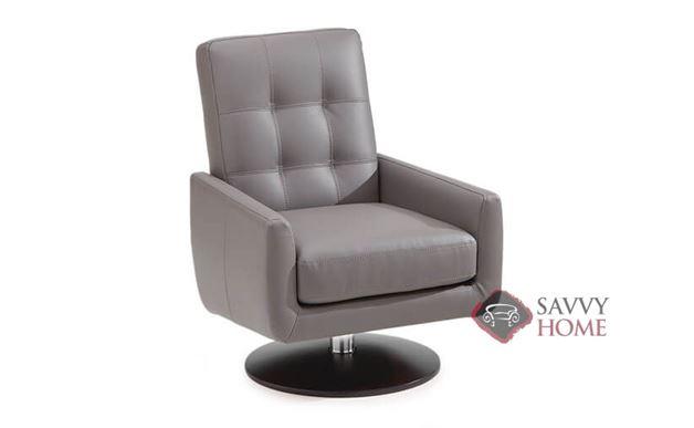 Halifax Leather Swivel Chair by Palliser in Champion Granite