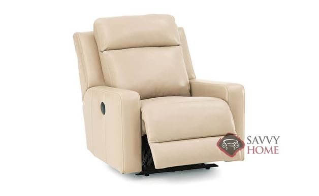 Forest Hill Rocking and Reclining Leather Chair in Tulsa II Sand