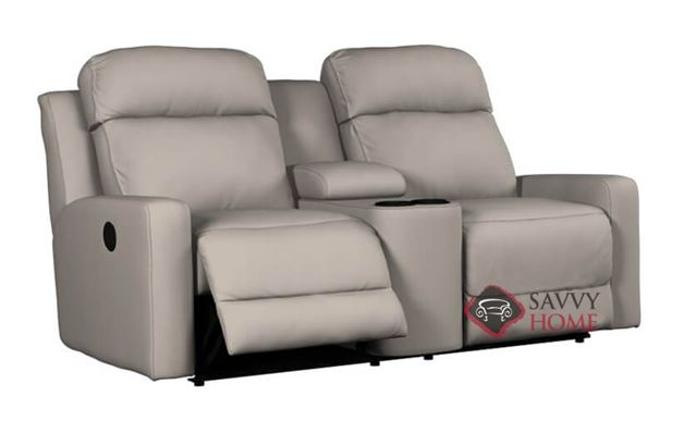 Forest Hill Dual Reclining Loveseat with Console in Bela Braun