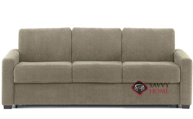 Roommate My Comfort 3-Cushion Queen Sleeper Sofa in Echosuede Stone