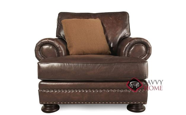 Foster Leather Chair with Down-Blend Cushion by Bernhardt in 203-020