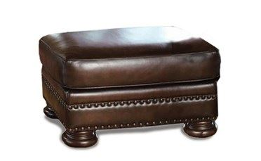 Foster Leather Ottoman by Bernhardt in 203-020