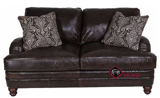 Tarelton Leather Loveseat by Bernhardt in 253-122