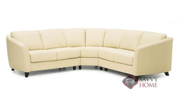 Alula True Sectional Leather Sofa by Palliser--Power Upgrade Available