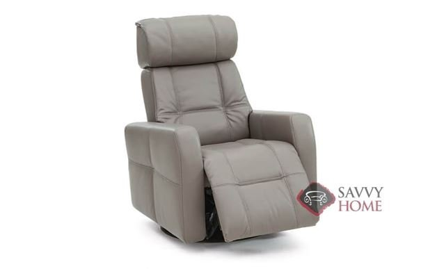 Myrtle Beach My Comfort Rocking and Reclining Leather Chair in Venice Coal