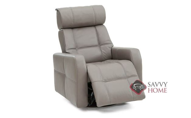 Myrtle Beach II My Comfort Rocking and Reclining Leather Chair in Venice Coal