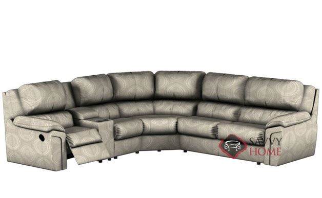 Daley Large Reclining True Sectional Sleeper Sofa with Console by Palliser