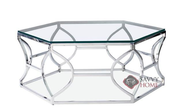 Argent Metal Cocktail Table by Bernhardt Interiors