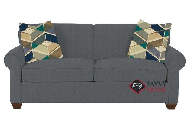 Calgary Full Sleeper Sofa by Savvy in Microsuede Charcoal