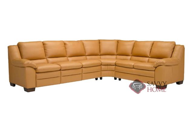 Tanaro (A450) Leather True Sectional by Natuzzi Editions