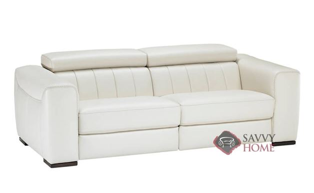 Lambro B790 Leather Reclining Sofa By Natuzzi Is Fully