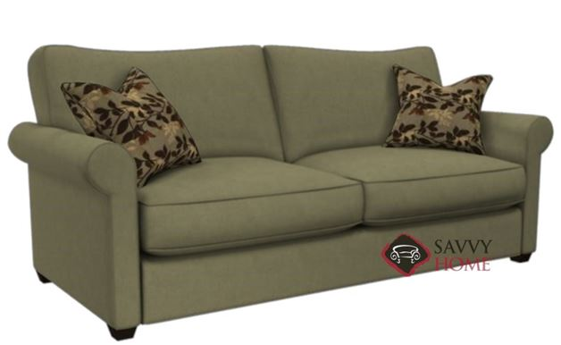 The 225 Queen Sleeper Sofa by Stanton shown in Caprice Truffle