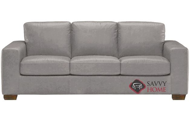 B534 Natuzzi Queen Sleeper Sofa shown in Denver Medium Grey