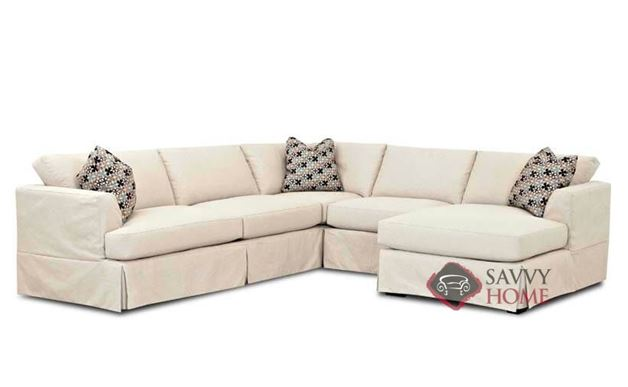 Berkeley Compact True Sectional Sofa with Slipcover and Chaise by Savvy