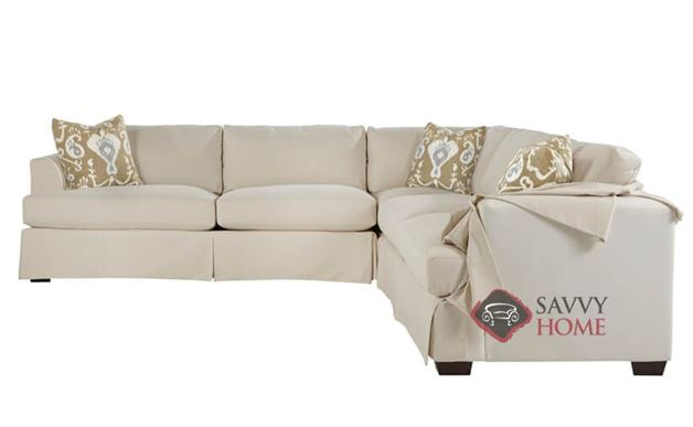 Berkeley True Sectional Sleeper Sofa with Slipcover by Savvy