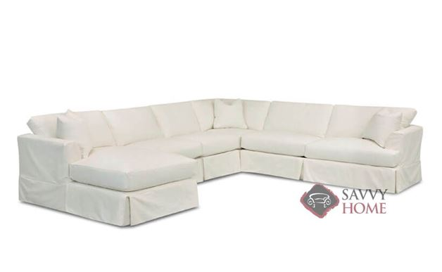 Berkeley True Sectional Sofa with Chaise and Slipcover by Savvy