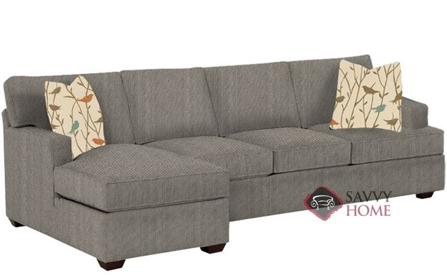 Lincoln Chaise Sectional Sleeper with Queen Bed in Frenzy Otter