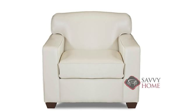 Geneva Leather Arm Chair by Savvy in Durango Oatmeal