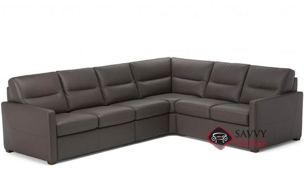 Conca (C010-536/537/011/016/017) True Sectional Leather Sleeper Sofa by Natuzzi Editions