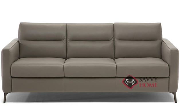 Caffaro (C008-266) Queen Leather Sleeper Sofa by Natuzzi Editions