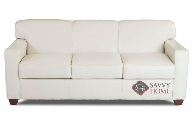Geneva Leather Sofa by Savvy in Durango Oatmeal