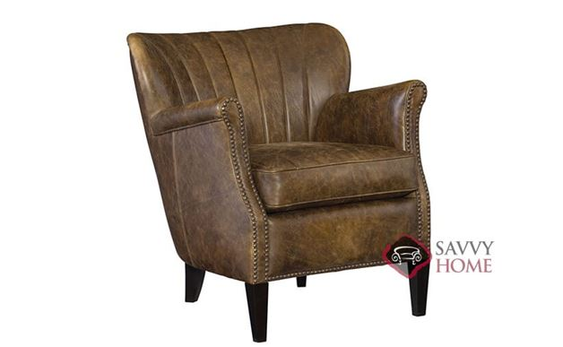 Kipley Leather Chair with Down-Blend Cushion by Bernhardt in 259-020
