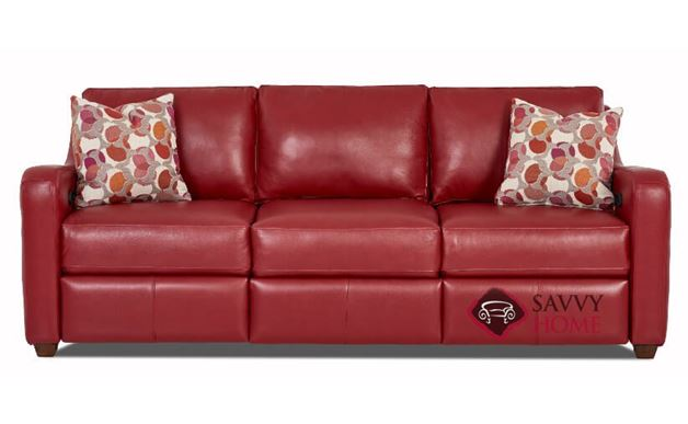 Glendale Dual Reclining Leather Sofa by Savvy